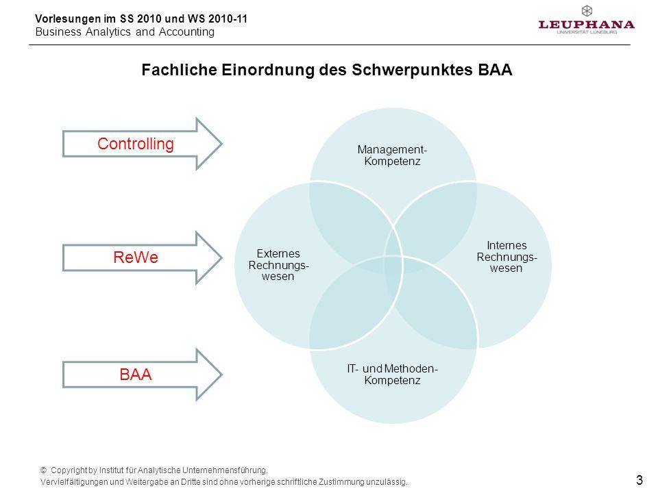 Fachliche Einordnung des Schwerpunktes BAA