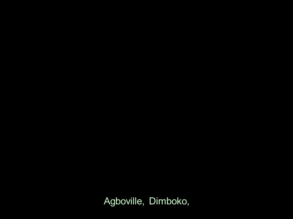 Agboville, Dimboko,