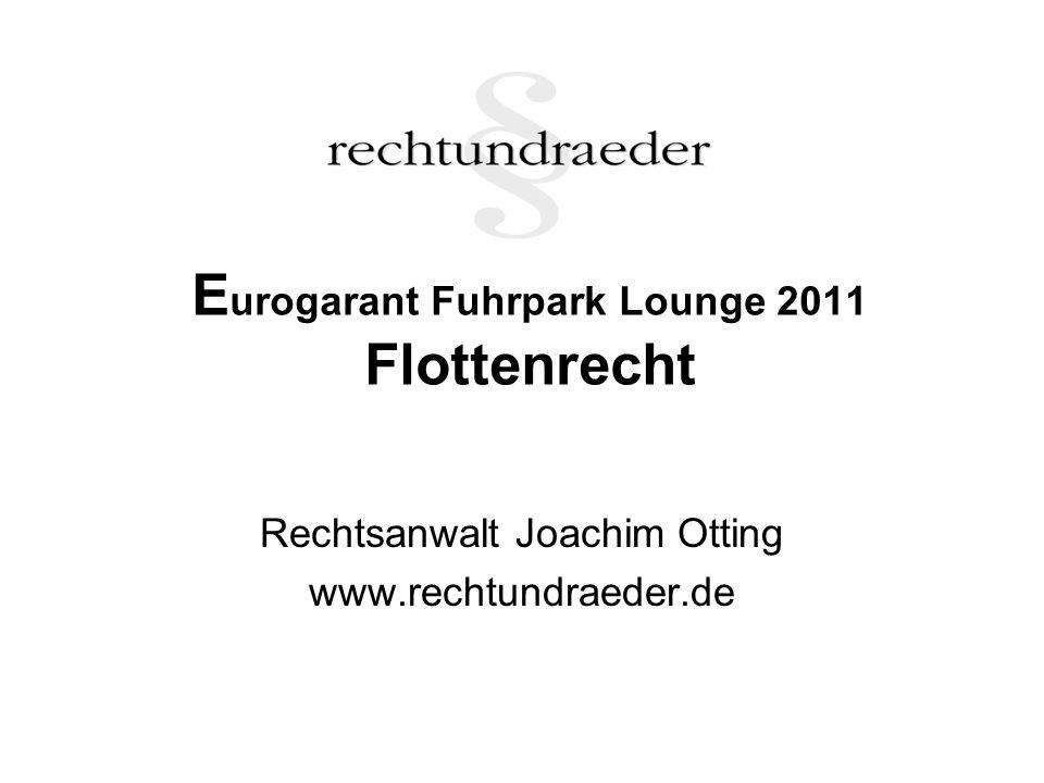 Eurogarant Fuhrpark Lounge 2011 Flottenrecht