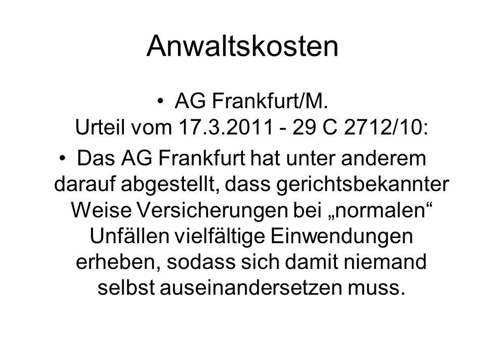 AG Frankfurt/M. Urteil vom 17.3.2011 - 29 C 2712/10: