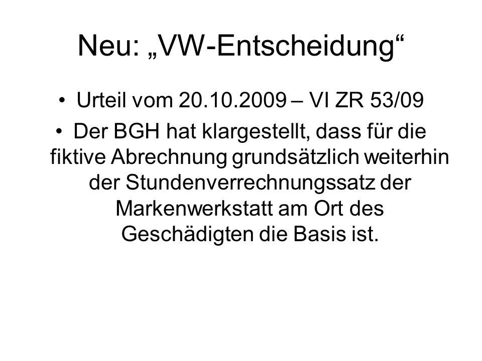 """Neu: """"VW-Entscheidung"""