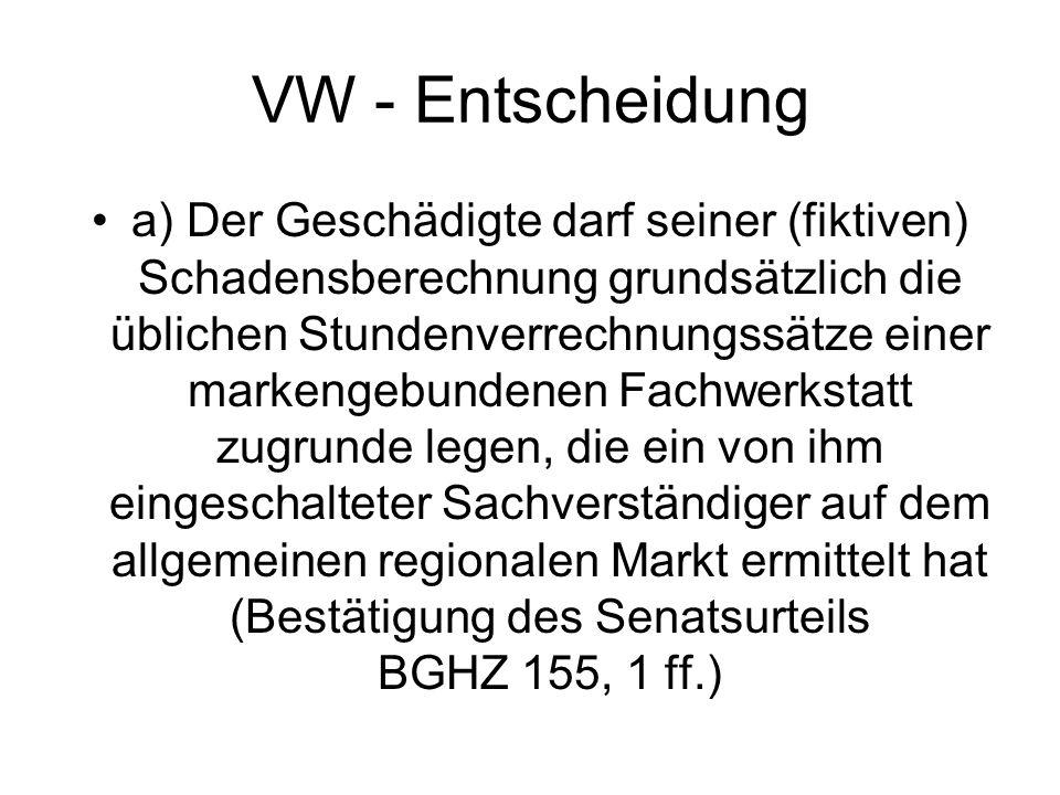 VW - Entscheidung