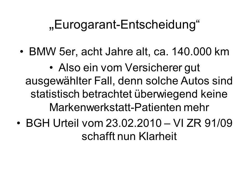 """""""Eurogarant-Entscheidung"""