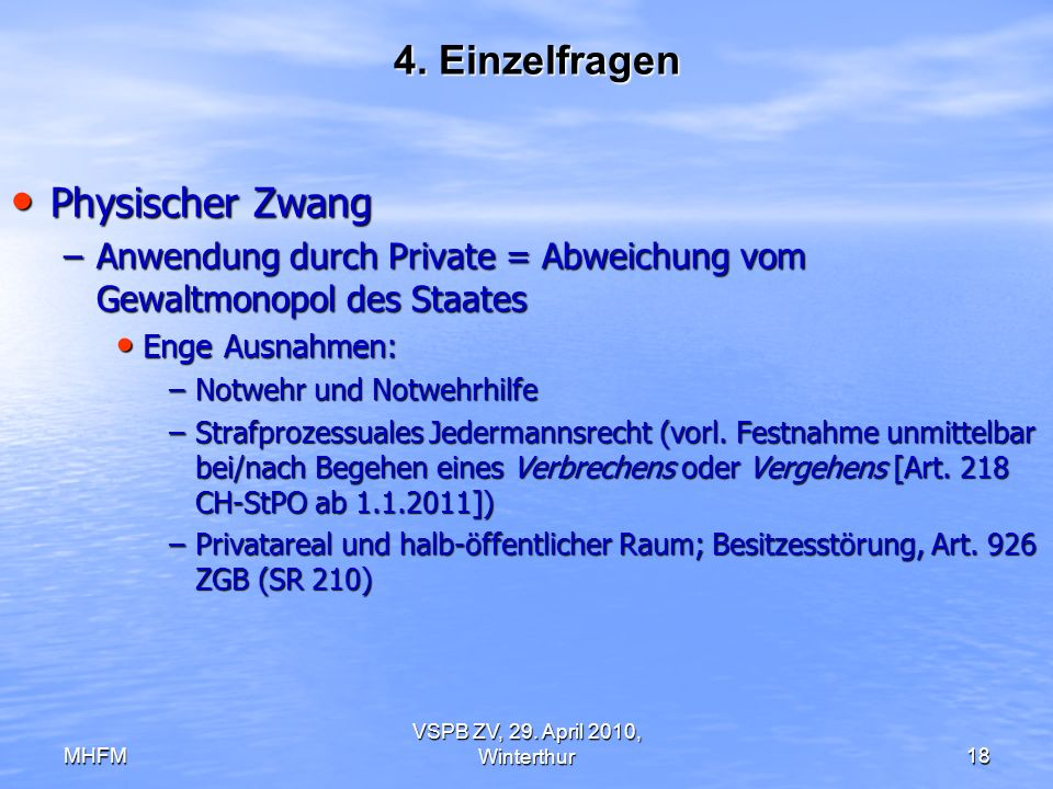 VSPB ZV, 29. April 2010, Winterthur