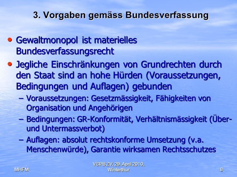 3. Vorgaben gemäss Bundesverfassung