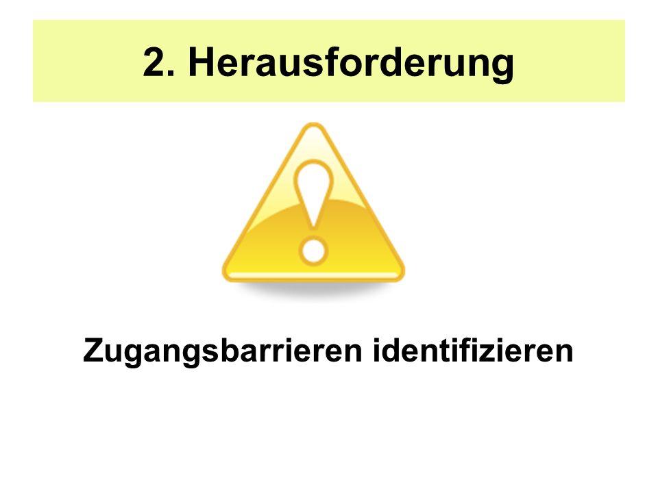 Zugangsbarrieren identifizieren