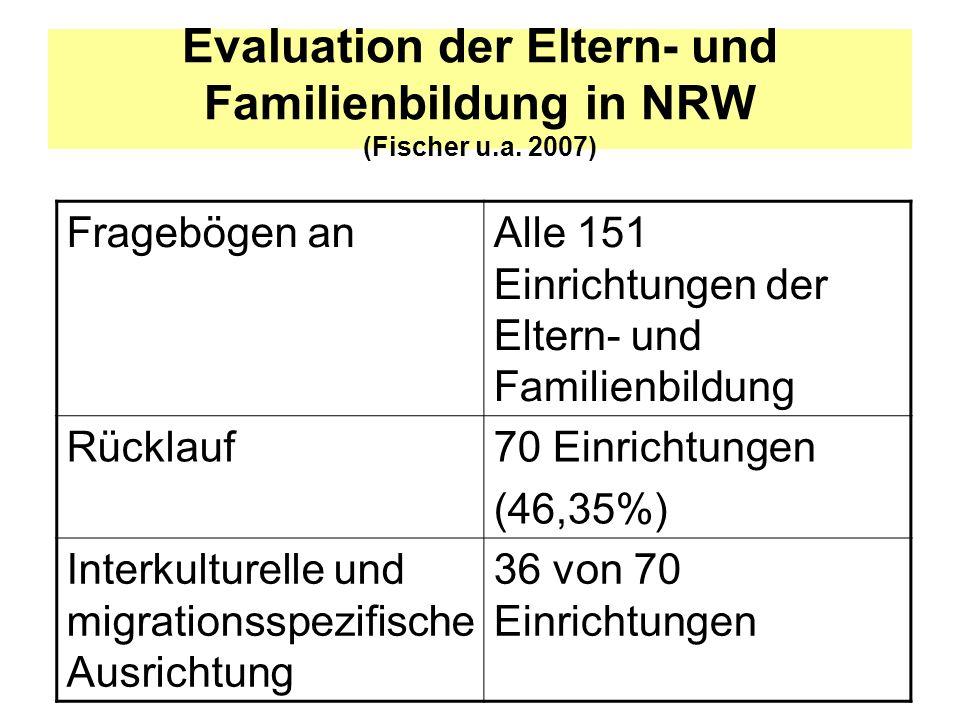 Evaluation der Eltern- und Familienbildung in NRW (Fischer u.a. 2007)