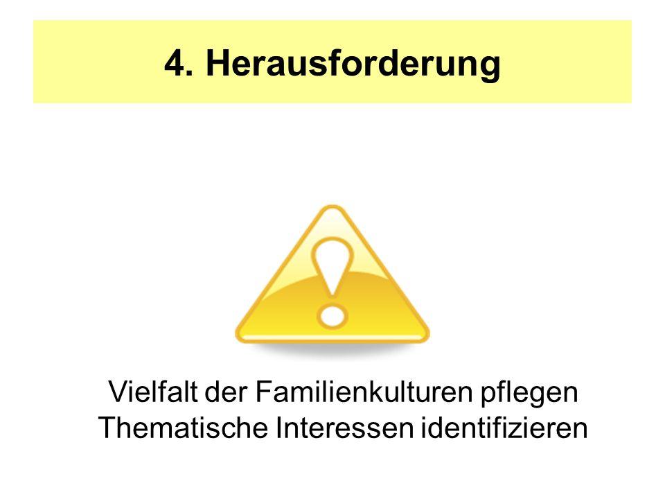 4. Herausforderung Vielfalt der Familienkulturen pflegen