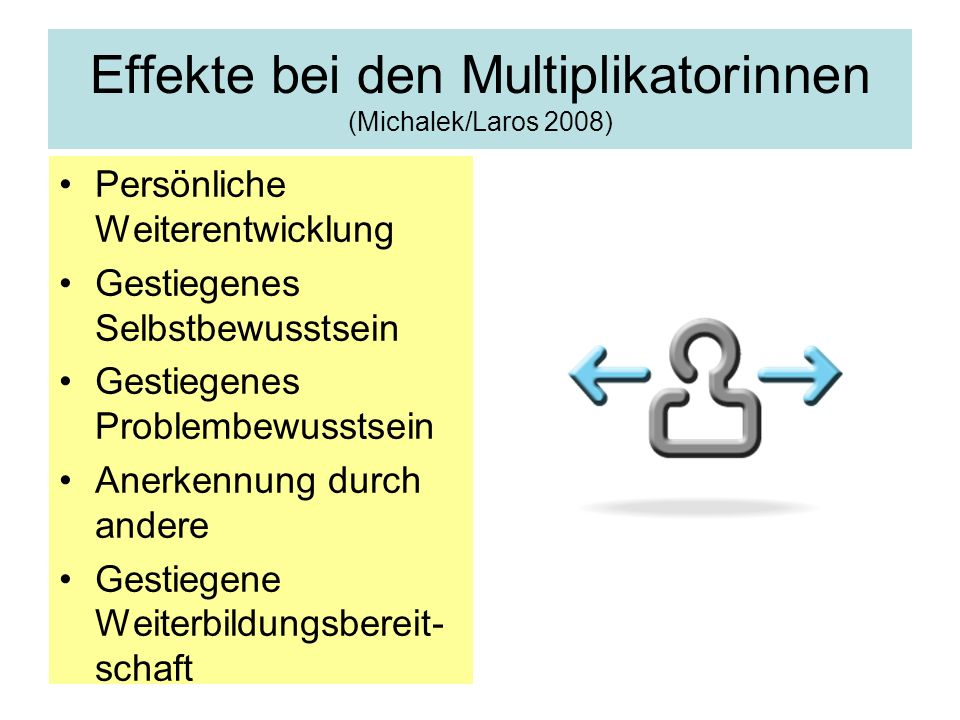 Effekte bei den Multiplikatorinnen (Michalek/Laros 2008)
