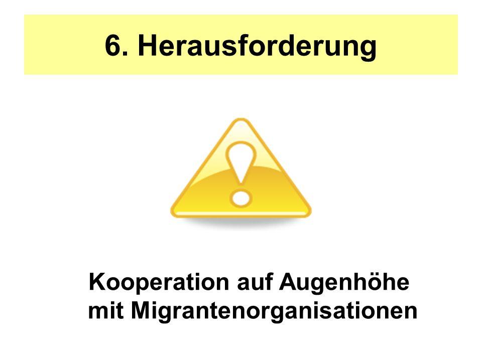Kooperation auf Augenhöhe mit Migrantenorganisationen