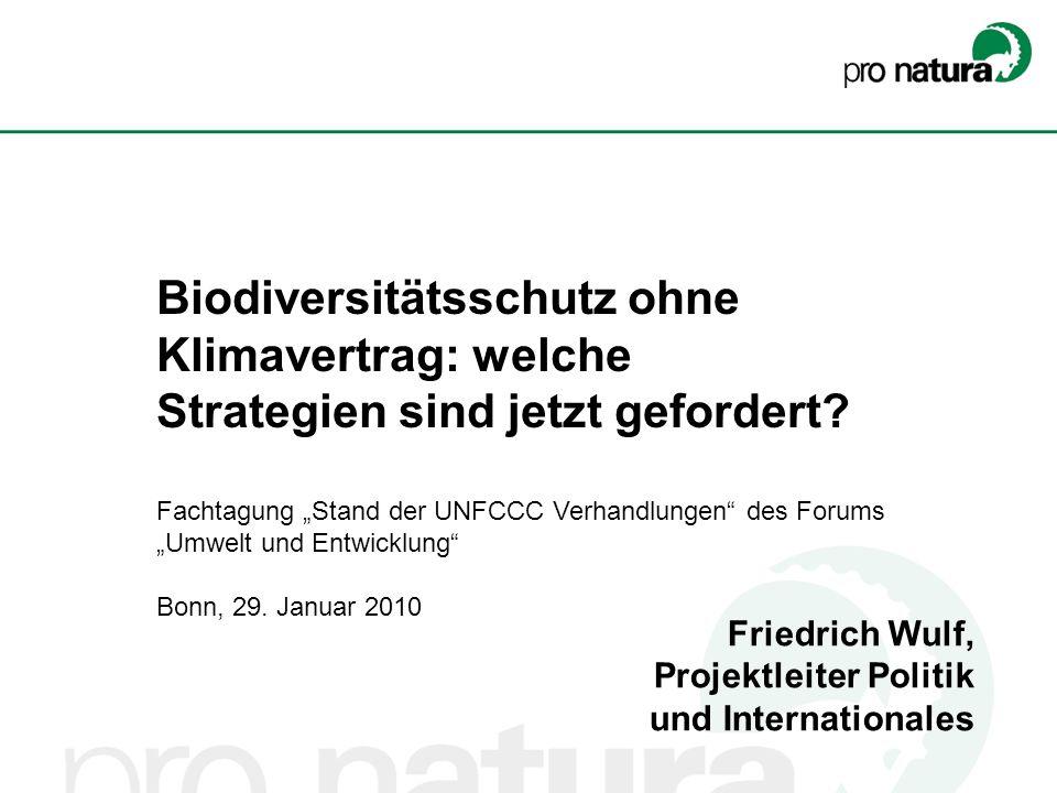 Biodiversitätsschutz ohne Klimavertrag: welche