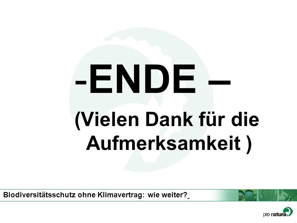 ENDE – (Vielen Dank für die Aufmerksamkeit )