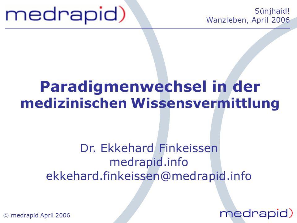 Paradigmenwechsel in der medizinischen Wissensvermittlung