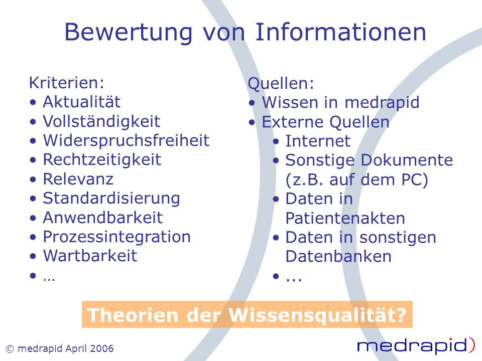Bewertung von Informationen