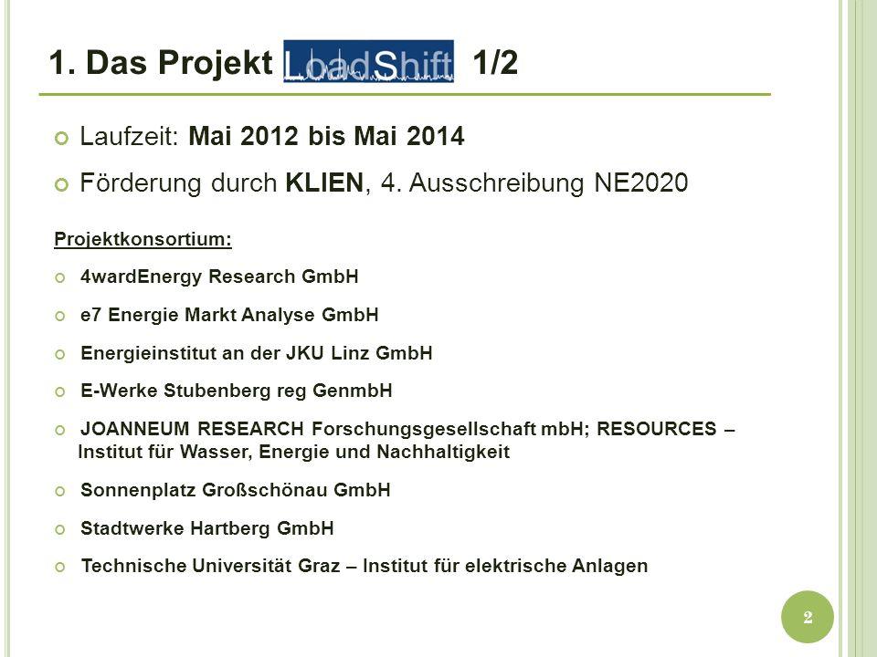 1. Das Projekt 1/2 Laufzeit: Mai 2012 bis Mai 2014