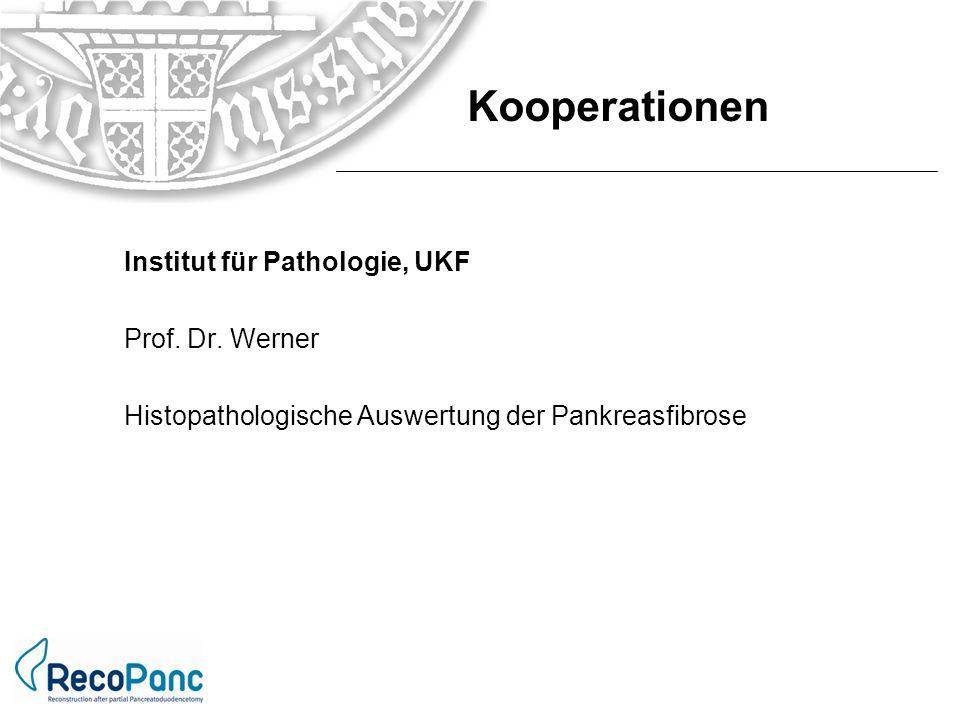 Kooperationen Institut für Pathologie, UKF Prof. Dr. Werner