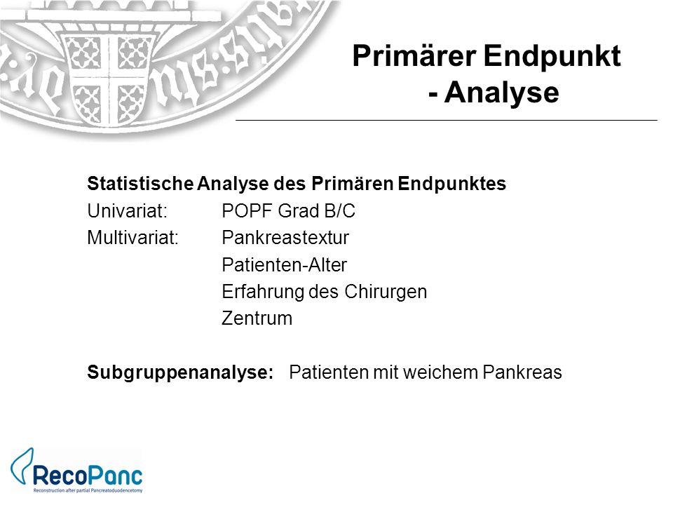 Primärer Endpunkt - Analyse