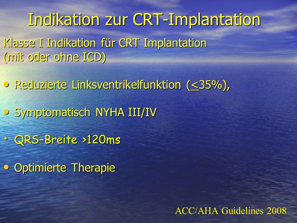 Indikation zur CRT-Implantation
