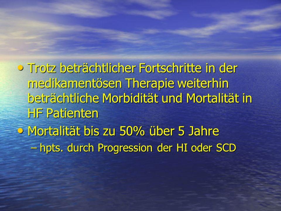 Mortalität bis zu 50% über 5 Jahre