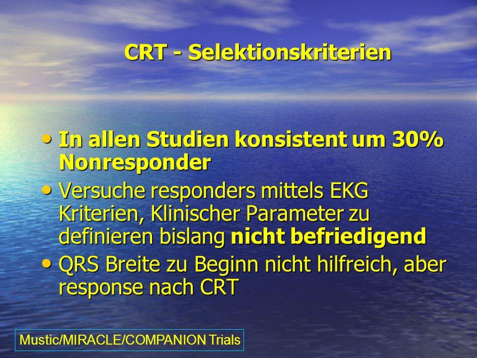 CRT - Selektionskriterien