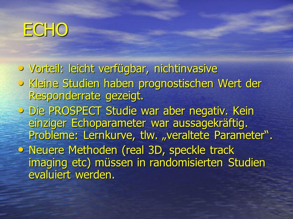 ECHO Vorteil: leicht verfügbar, nichtinvasive