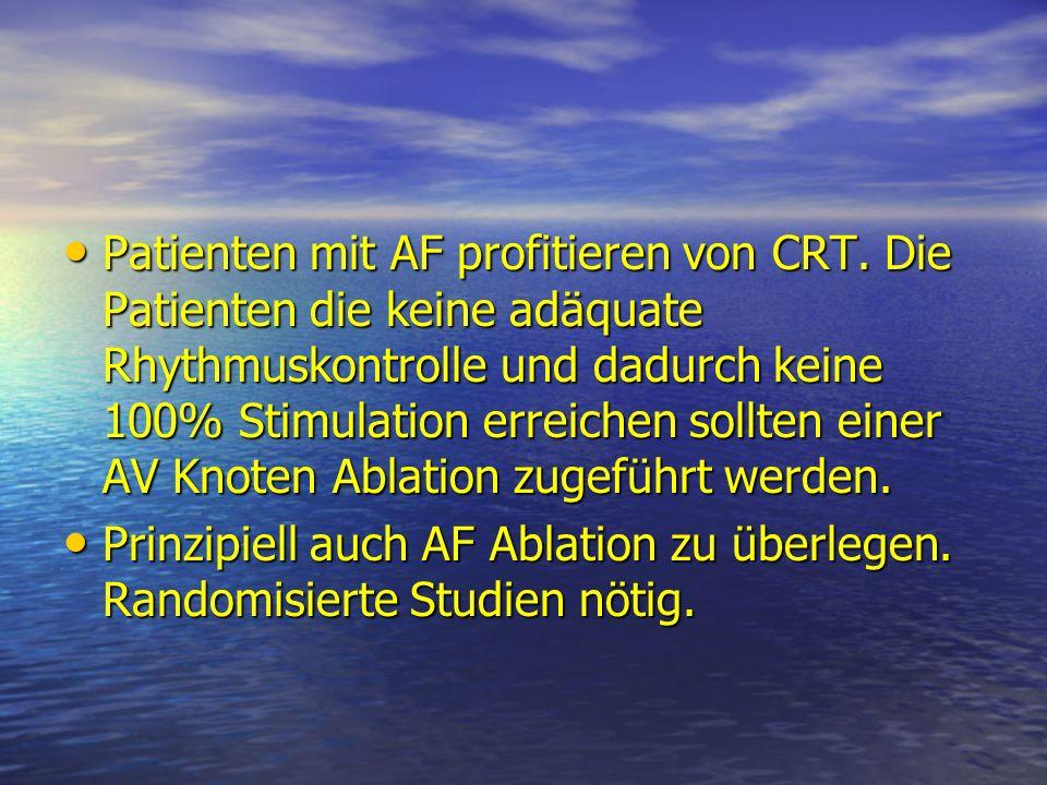 Patienten mit AF profitieren von CRT