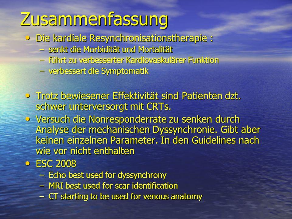 Zusammenfassung Die kardiale Resynchronisationstherapie :