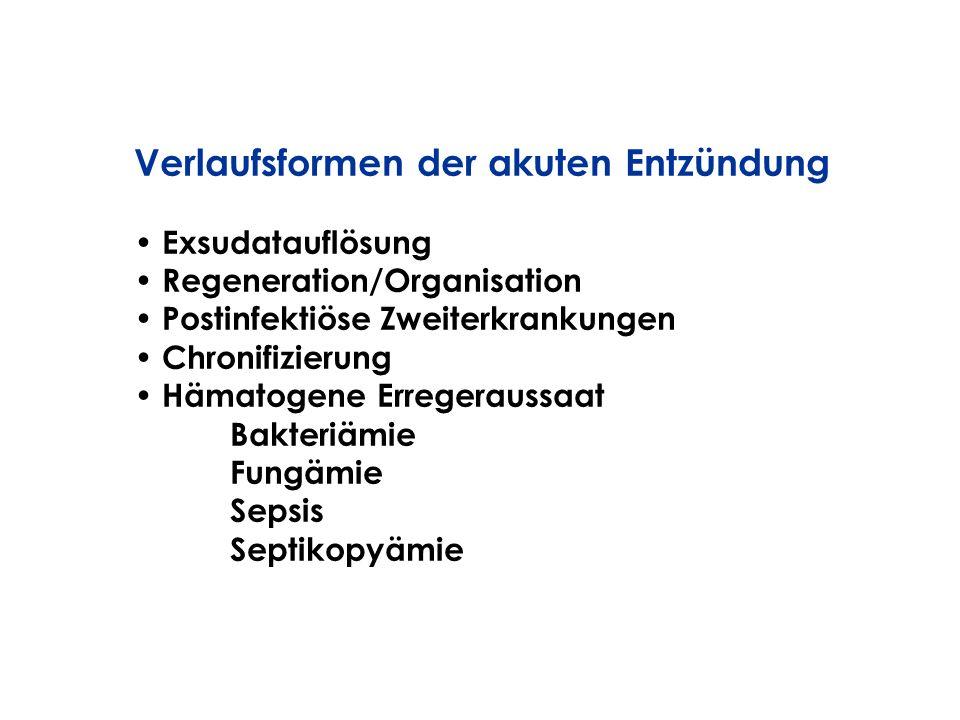 Verlaufsformen der akuten Entzündung