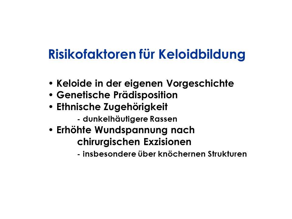 Risikofaktoren für Keloidbildung