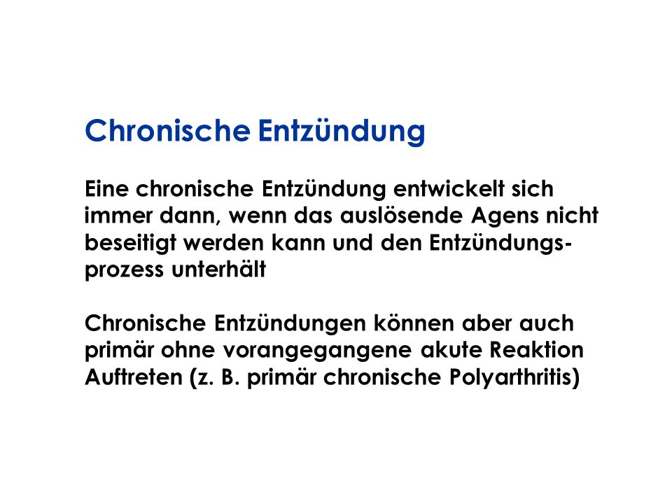 Chronische Entzündung