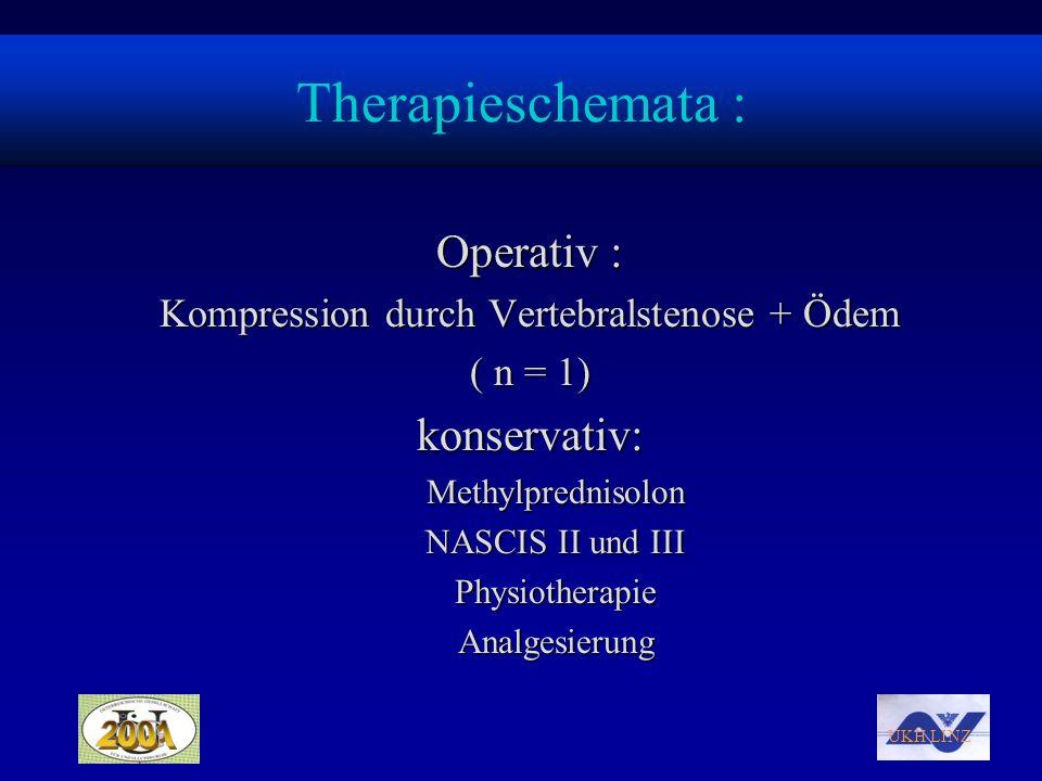 Kompression durch Vertebralstenose + Ödem