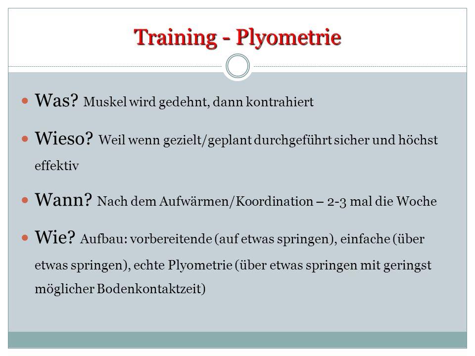 Training - Plyometrie Was Muskel wird gedehnt, dann kontrahiert