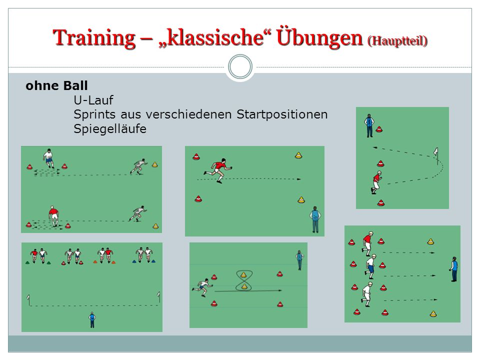 """Training – """"klassische Übungen (Hauptteil)"""