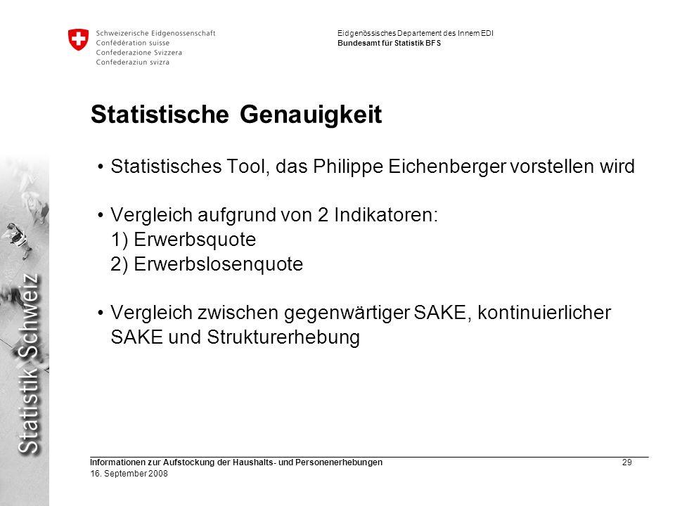 Statistische Genauigkeit
