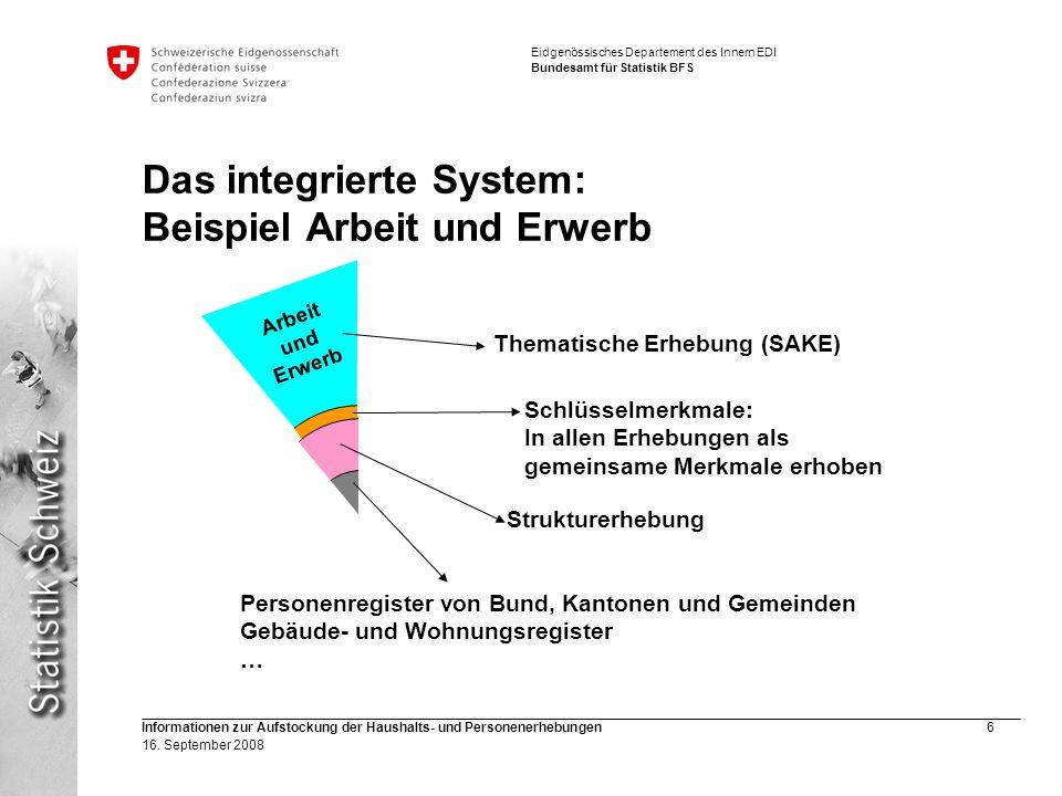 Das integrierte System: Beispiel Arbeit und Erwerb