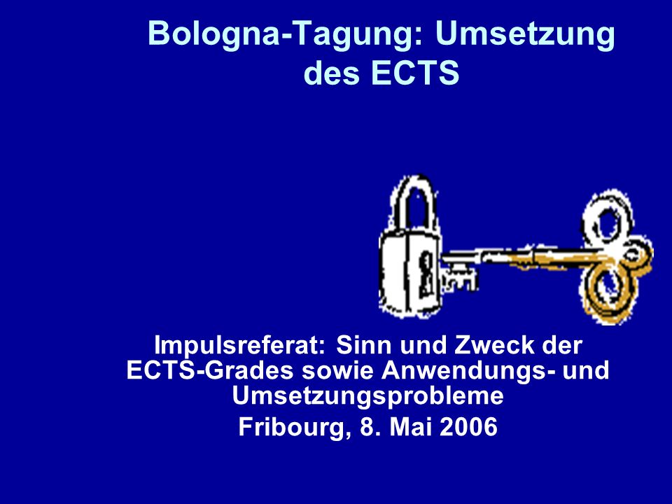 Bologna-Tagung: Umsetzung des ECTS