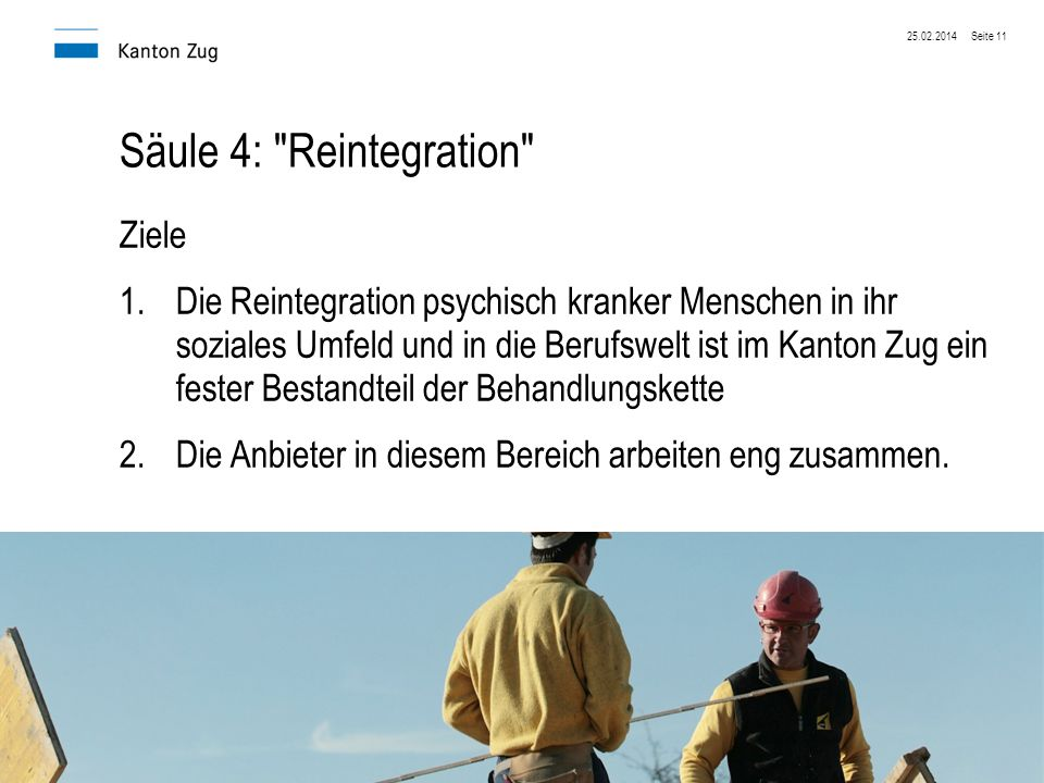 Säule 4: Reintegration Ziele