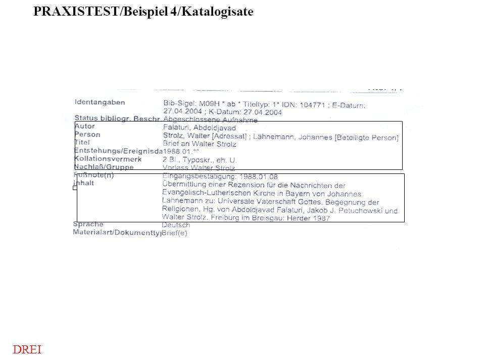 PRAXISTEST/Beispiel 4/Katalogisate