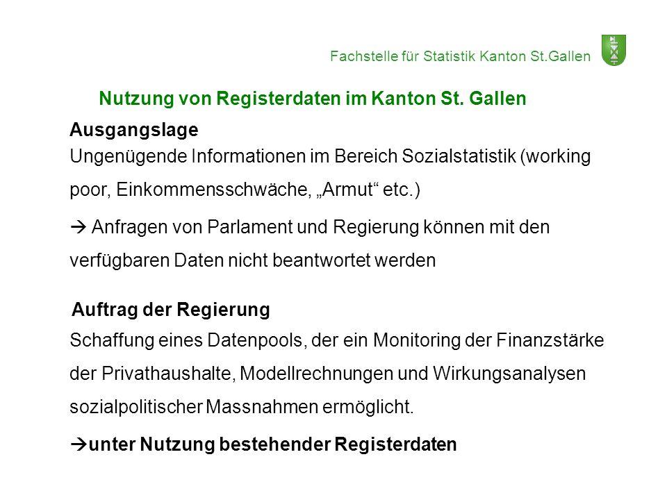 Nutzung von Registerdaten im Kanton St. Gallen