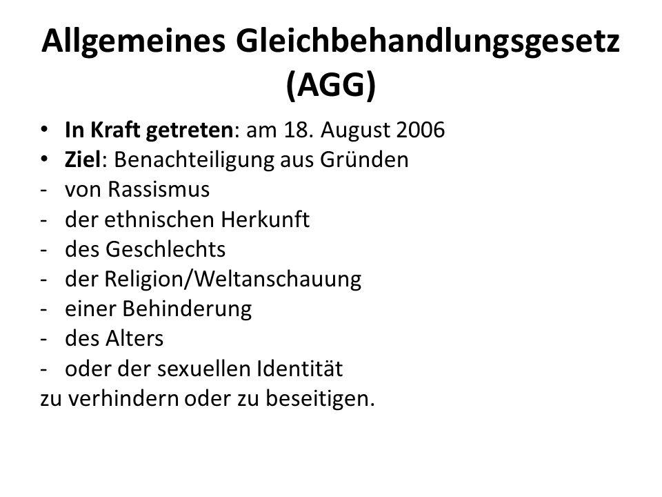 Allgemeines Gleichbehandlungsgesetz (AGG)