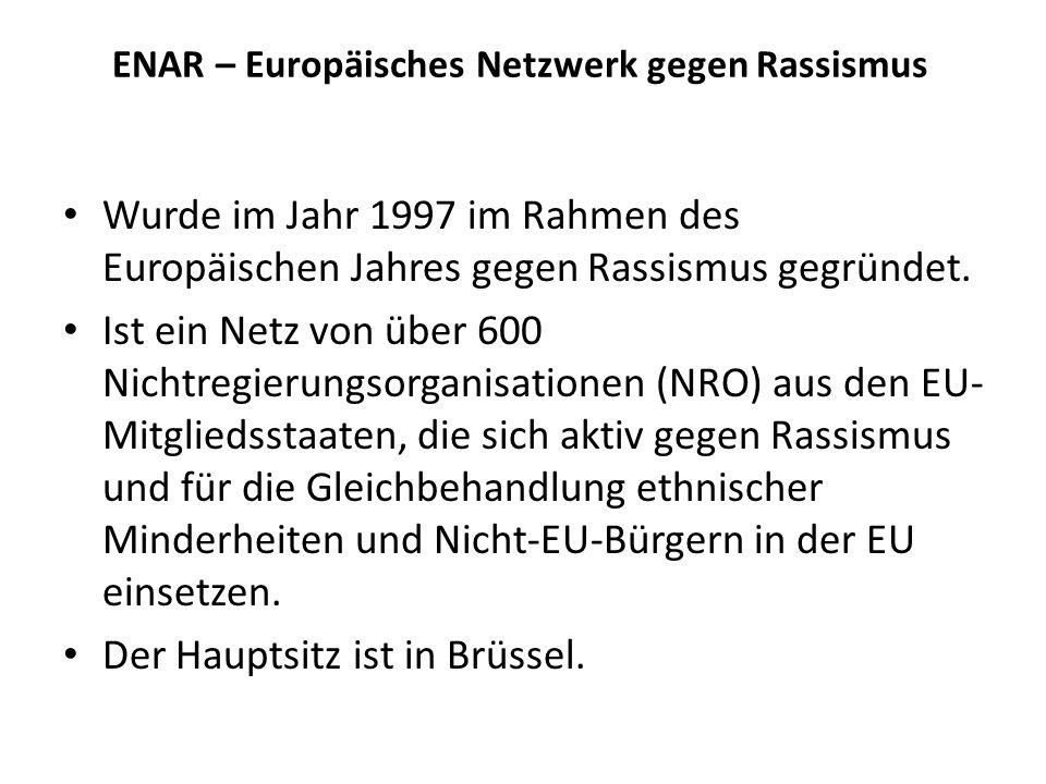 ENAR – Europäisches Netzwerk gegen Rassismus