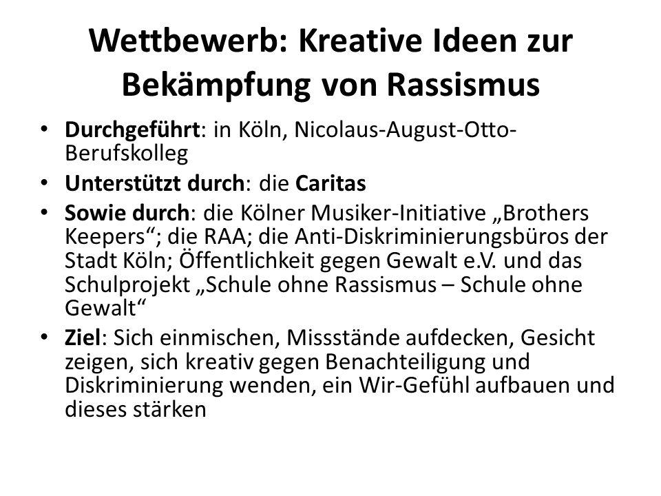 Wettbewerb: Kreative Ideen zur Bekämpfung von Rassismus