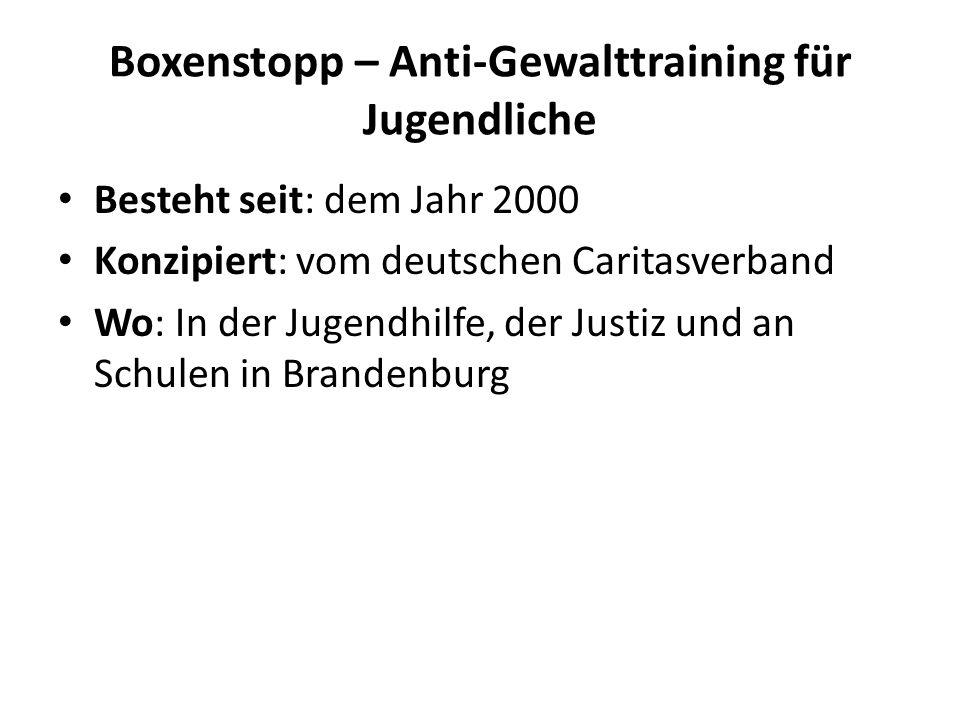 Boxenstopp – Anti-Gewalttraining für Jugendliche