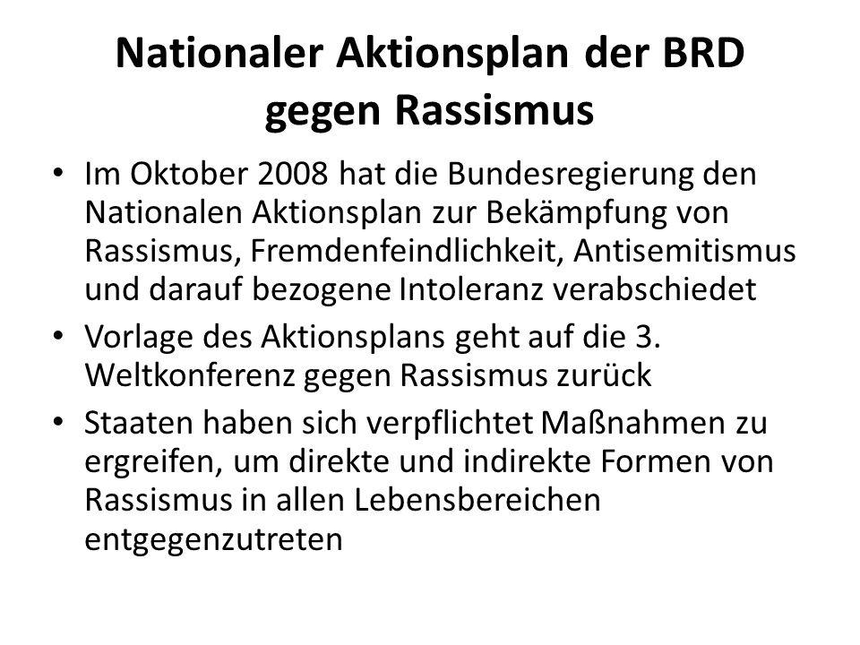 Nationaler Aktionsplan der BRD gegen Rassismus