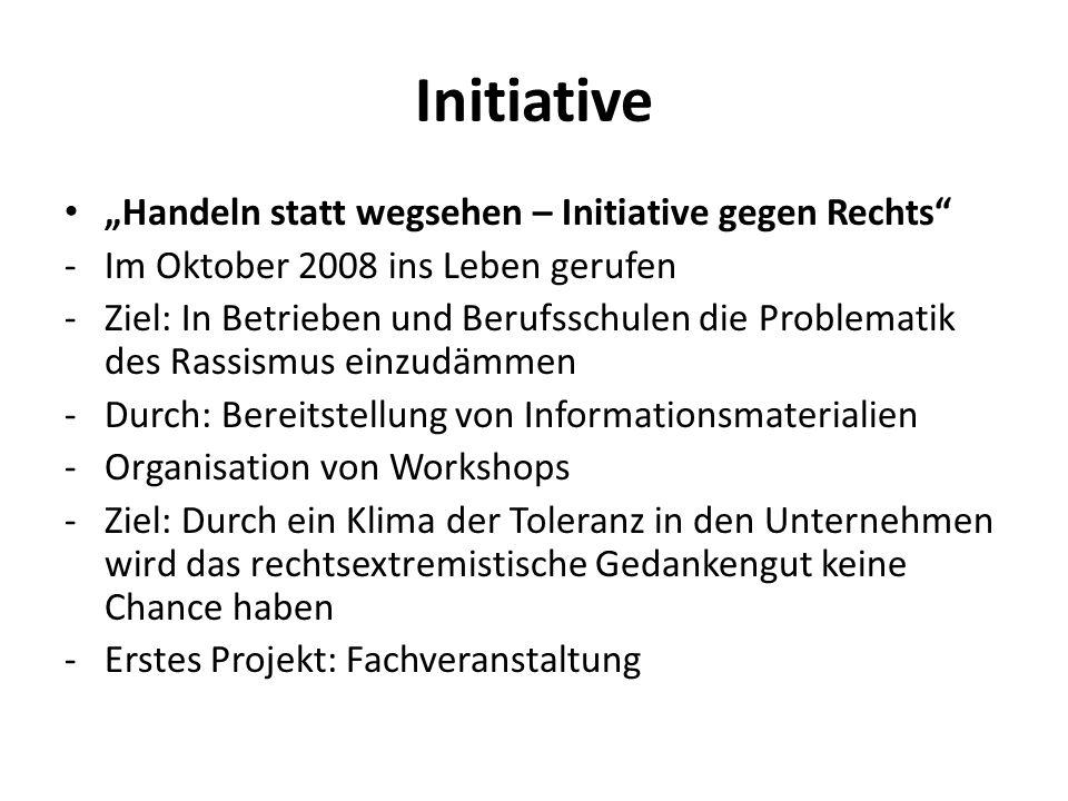 "Initiative ""Handeln statt wegsehen – Initiative gegen Rechts"
