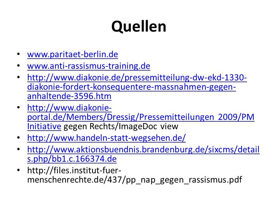 Quellen www.paritaet-berlin.de www.anti-rassismus-training.de