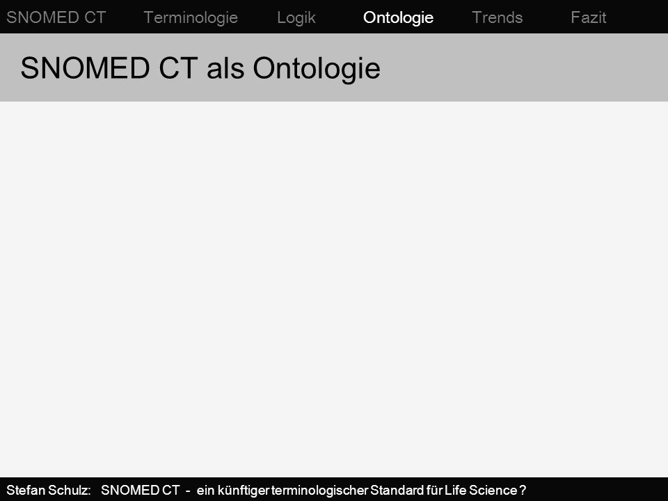 SNOMED CT als Ontologie