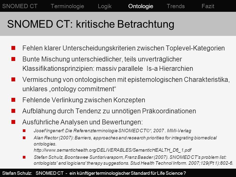 SNOMED CT: kritische Betrachtung
