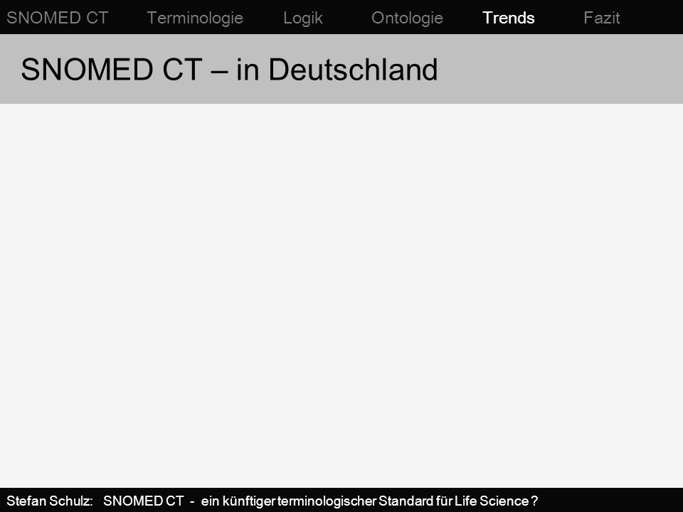 SNOMED CT – in Deutschland