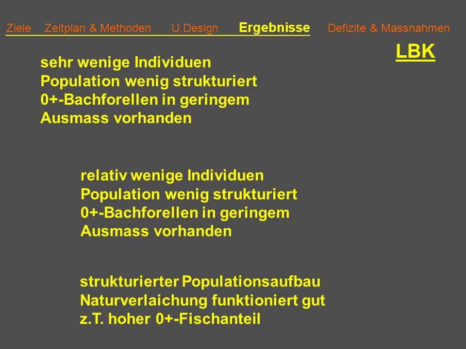 LBK sehr wenige Individuen Population wenig strukturiert